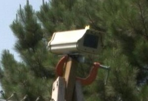 This is Boomer's Eye. A High Speed Camera that watches high above the court.